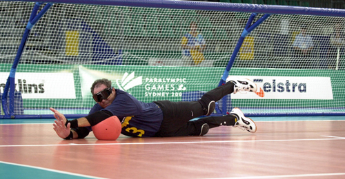 Goalball Warren Lawton penalty save