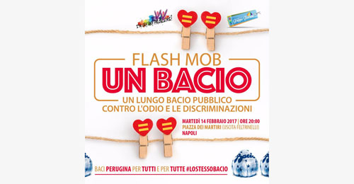 bacio flash mob